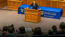 A.G. Bill Barr at Notre Dame Univ.